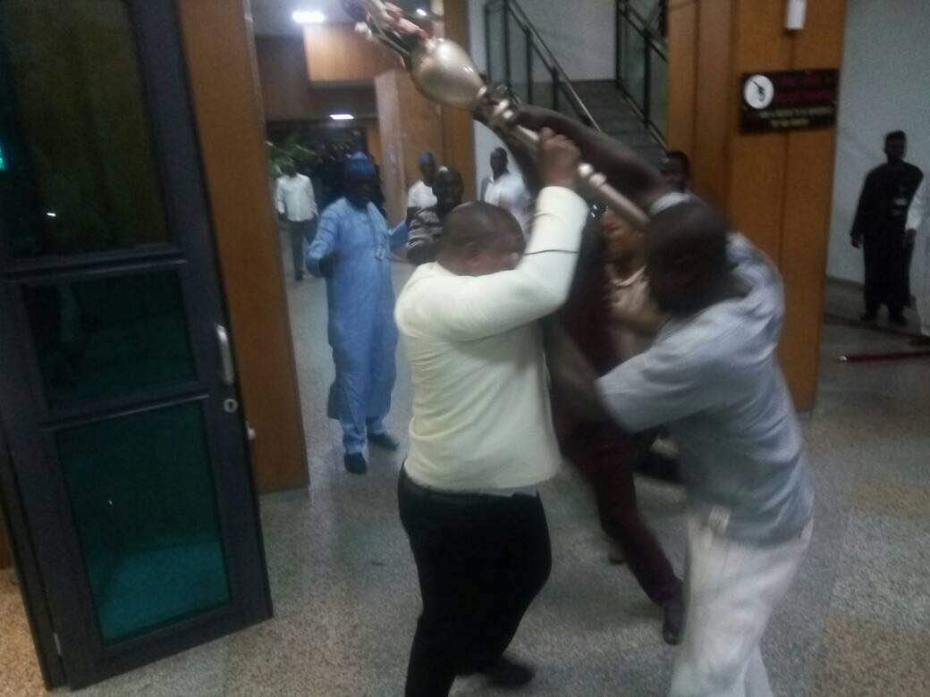 Police Hands Over Senate Mace to The Clerk of the National Assembly